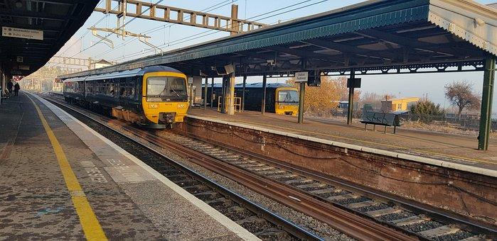 Train, Railway, Platform, Urban, Travel