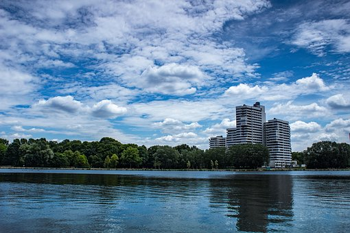 Water, Sky, Landscape, Nature, Blue, Clouds, Reflection