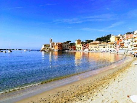 Sea, Liguria, Summer, Italy, Landscape, Costa, Water