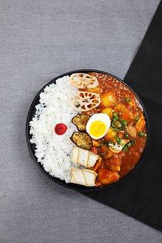 Curry, Career, Japanese, Eggs, We See, Lotus Root