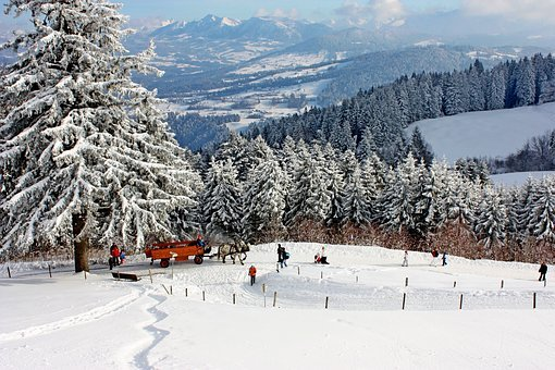 Nature, Snow, Winter, Forest, Landscape, Mountain, Sky