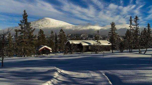 Winter, Snow, Cottage, Mountain, The Nature Of The