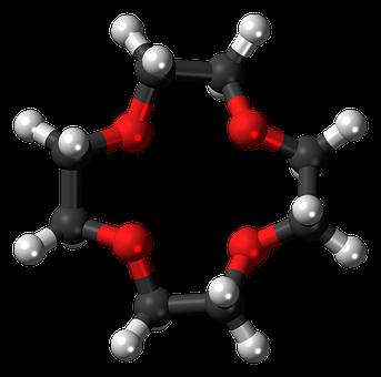 Crown, 4, 3d, Balls, Ether, Model, Molecule, Chemical