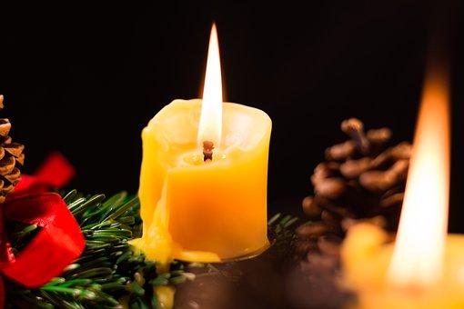Christmas, Advent, Advent Wreath, Wreath, Candle