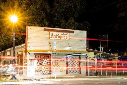 Atx, Austin, Texas, Night, Antique Store, Rustic, Urban