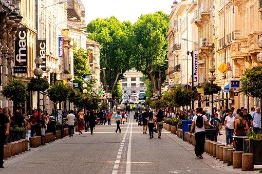 Avignon, City, Crowded Street, Scene, Life, Busy