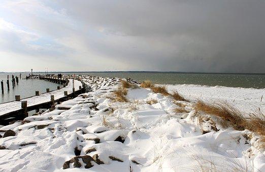Winter At Sea, Baltic Sea, Insel Poel