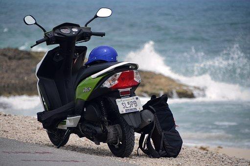 Moto, Landscape, Costa, Beach, Mexico, Island, Cozumel