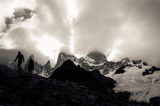 Mountain, Photos, White, Black, Snow, Adventure