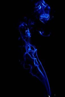 Smoke, Blue, Joss Sticks, Trails