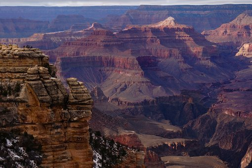 Grand Canyon, South Rim, Bright Angel Trail, Colorful
