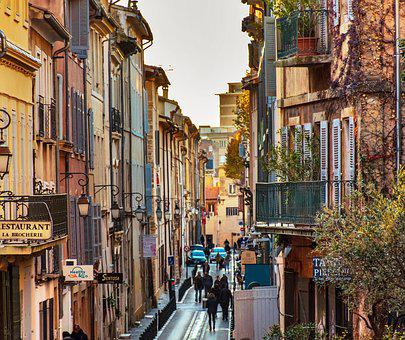 City Life, Street Life, Lively, Busy, Provencal