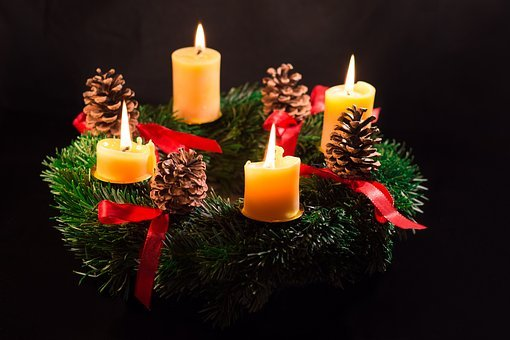 Christmas, Advent Wreath, Advent, Christmas Time