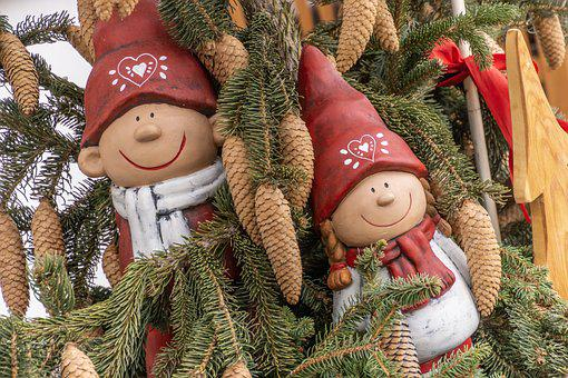 Gnomes, Gnome, Fir, Christmas, Decoration, Advent