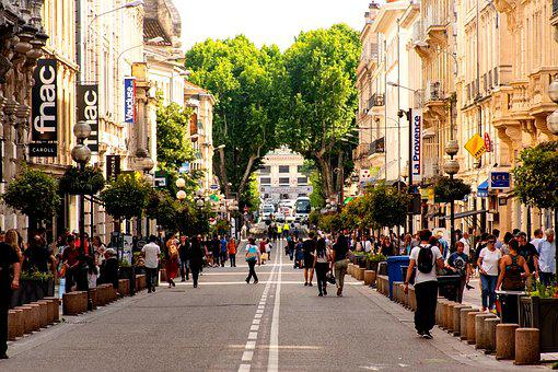Avignon, City, Crowded Street, Scene, Life, Busy