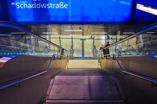 Architecture, Metro, Railway Station, Urban, City
