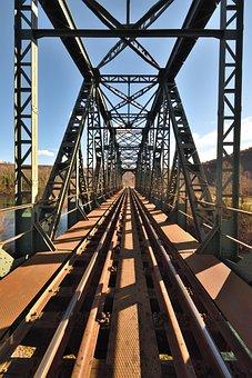 Bridge, Steel, Architecture, Engineering, Metal, Road