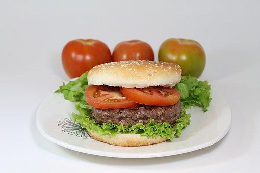 Burger, Meat, Food, Bread, Lettuce