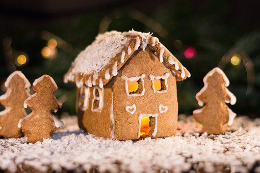 Gingerbread House, Advent, Gingerbread, Christmas