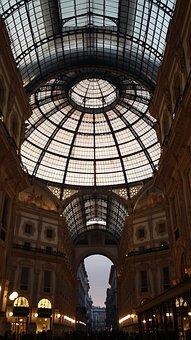 Galleria Vittorio Emanuele, Milan, Architecture, Glass