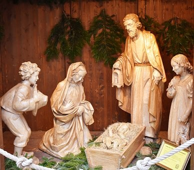 Crib, Christmas, Jesus, Nativity Scene