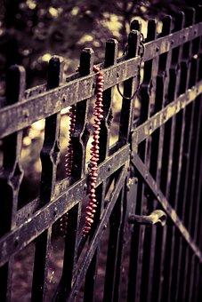 Grind, Necklace, Rustic, Old, Vintage, Worn, Locked