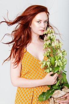 Girl, Woman, Young, Beautiful, Model, Redhead, Hair