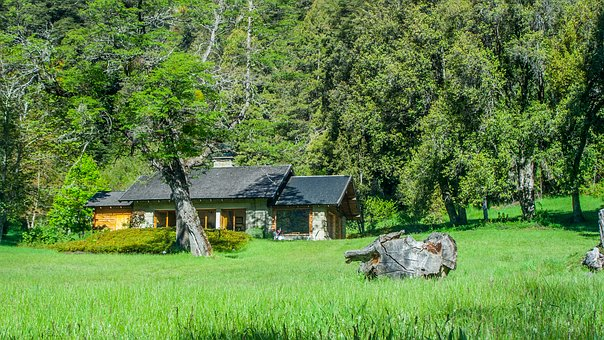 Cabin, Wood, Landscape, Nature, Holiday, Pond, View