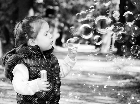 Baby, Girl, Soap Bubbles, Fun, Cute, Portrait