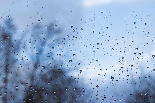 Raindrop, Window, Wet, Water, Drip, Rainy, Rainy Day