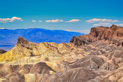 Death Valley, Desert, Landscape, Rock Formations, Stone