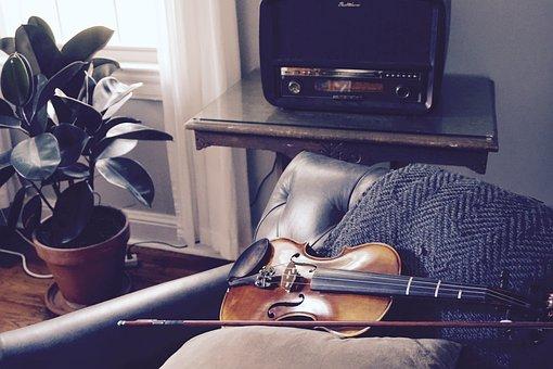 Violin, Room, Quiet, Music, Unplayed, Alone