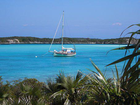 Sailboat, Vacation, Bahamas, Exumas, Sailing, Boat