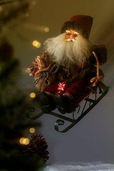Santa Claus, Last Minute, Christmas, Christmas Card