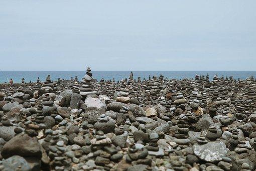 Puerto De La Cruz, Tenerife, Stones, Sea, Holiday