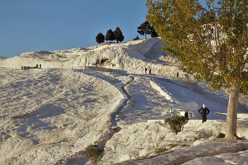 Pamukkele, Turkey, Snow, Mountain, Hot Spring, Peace