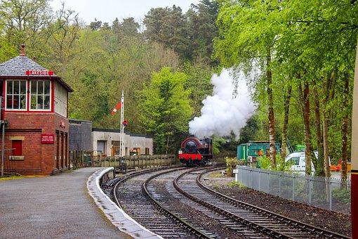 Steam Train, Haverthwaite Railway, Cumbria