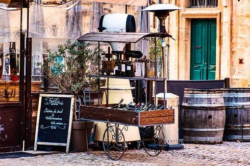 Street Display, Wine, Service Cart, Wine Casks