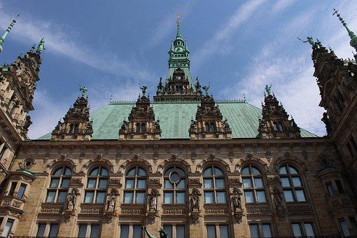 Hamburg, Town Hall, Germany, Hanseatic City, Building