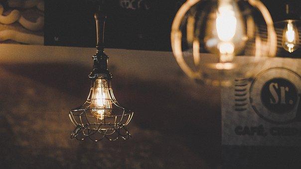 Light, Christmas, Restaurant, Vintage