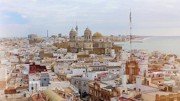Cadiz, Spain, Sea, Water, Andalusia, Sky, Landscape