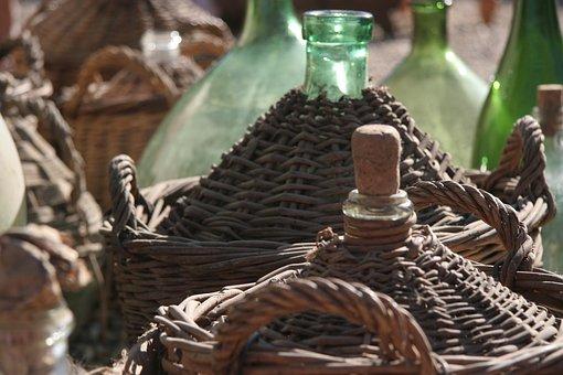Wine, Antique, Bottle, Decoration, Herbstimpression