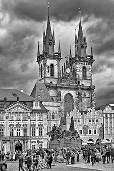 Prague, Towers, Clock, Architecture, Gothic