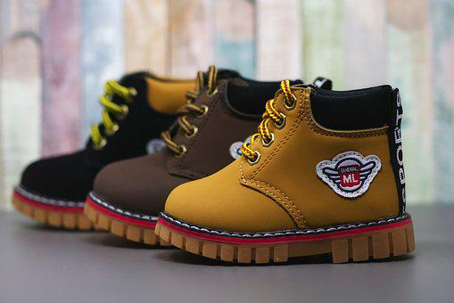 Baby Shoes, Children's Shoes, Brown, Leather, Cute