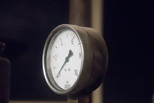 Gauge, Bar, Pressure, Industry, Metal, Mechanical