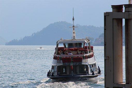Ferry, Boat, Ship, Water, Sea, Ocean, Tourism, Blue