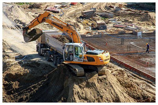 Excavator, Building, Machine, Equipment, Work