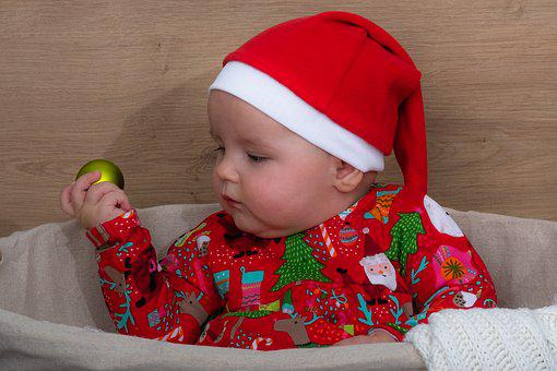 Child, Christmas, Infant, Baby, Human, December, Cute