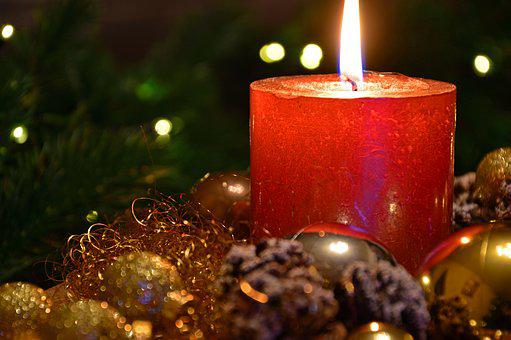 Christmas Picture, Christmas Candle