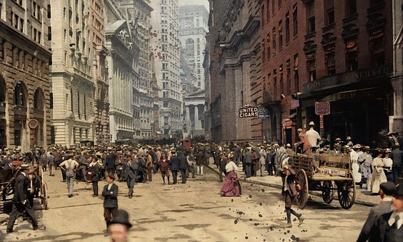 City, Street, Road, Old, Vintage, Scenic, View